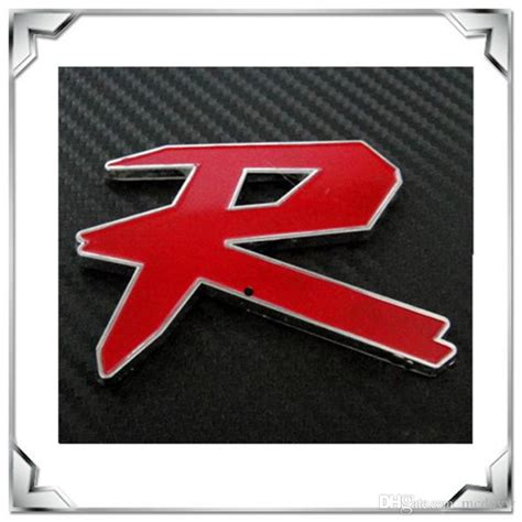 Hot Salse!high Quality Red R Stypecar Car Logo Chrome