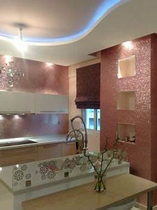 40 awesome kitchen backsplash ideas glitter wallpaper With kitchen colors with white cabinets with glitter canvas wall art
