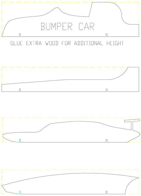 pinewood derby car template   page