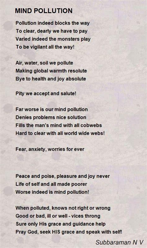 mind pollution poem  subbaraman   poem hunter