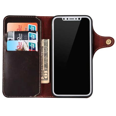 Cowhide Iphone by Genuine Cowhide Leather Wallet Card Magnet Cover