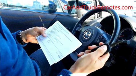 Mazda Remote Keyless Entry Key Diy Programming, Keyfob