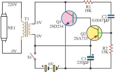 Easy Fluorescent Light Circuit Wiring