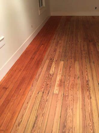 Water Damaged Pine Floor Refinishing   historic St. Augustine