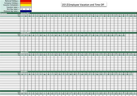 excel tracking template 2012 absence tracking excel template