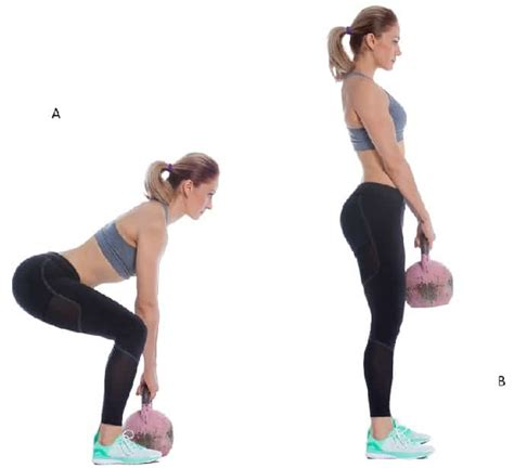 kettlebell deadlift exercise muscles muscle build workout strength particular glutes backs abs thought leg working perfect