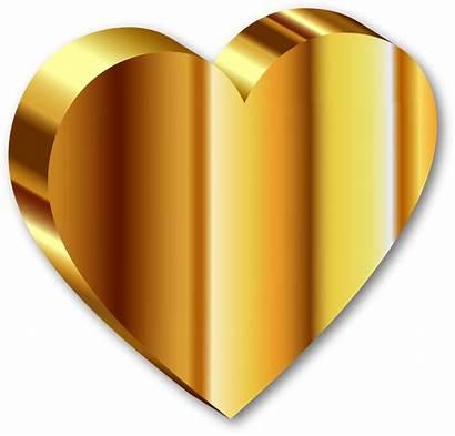 Heart Gold 3d Shadow Clip Clipart Deeper