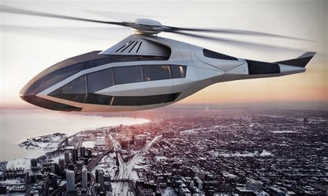 lamborghini helicopter bell s futuristic fcx 001 concept helicopter is what
