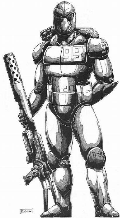 Character Rifts Armor Concept Superhero Rpg Palladium