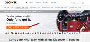 Home » credit card reviews » nhl discover it credit card review. How to Apply to NHL Discover it Credit Card - CreditSpot