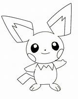 Pichu Pokemon Coloring Pages Legendary Mew Smiling Drawing Template Pikachu Printable Luna Sketch Colorluna sketch template