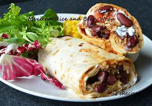 Su's RecipesMexican Rice and Bean Wrap