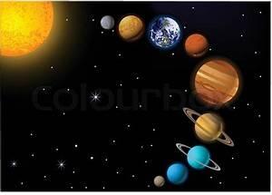 """""""vector illustration of solar system""""   Stock Vector ..."""