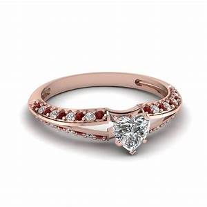 Ruby Accent Engagement Rings | Fascinating Diamonds