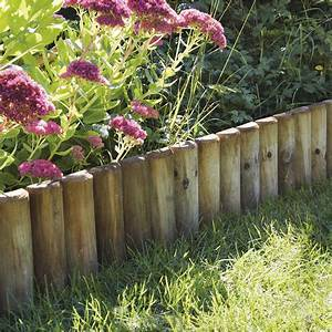 Bordure De Jardin Leroy Merlin : bordure planter pin de bois naturel x cm ~ Melissatoandfro.com Idées de Décoration