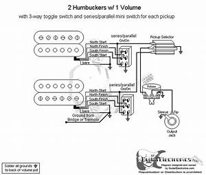 2 Humbuckers  3 1 Volume  Series Parallel