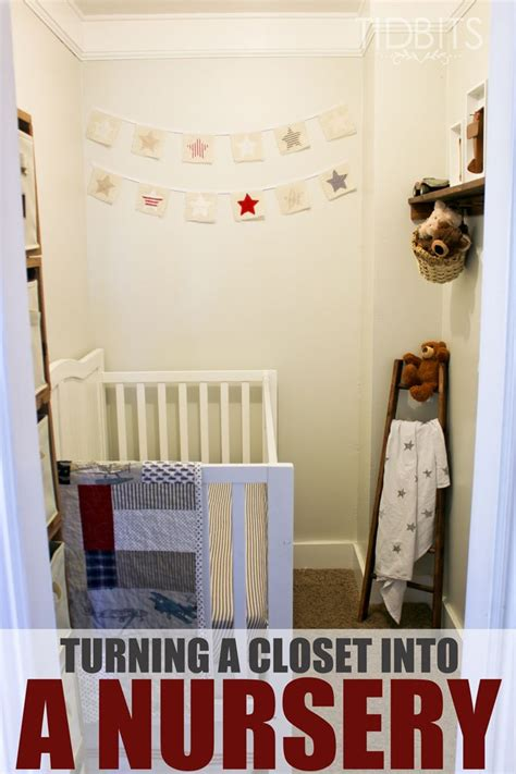turning a closet into a nursery tidbits