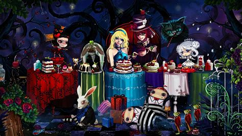 alice  wonderland anime wallpaper  ipad mini