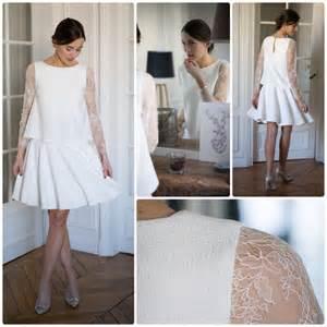 prix mariage mairie robes courtes pour mariage civil et témoins mademoiselle dentelle
