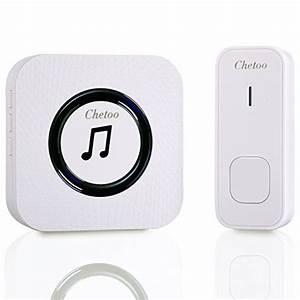 Wireless Doorbell  Tecknet Remote Waterproof Plug In
