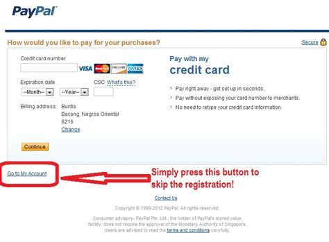 Send payment to paypal with credit card. How to Register at Paypal