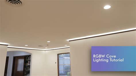 LED Strip Cove Lighting Install RGBW Tutorial   YouTube
