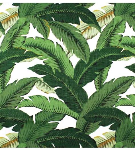 Ready Made Lounge Curtains by Waverly Swaying Palms Decorative Leaves Fabric