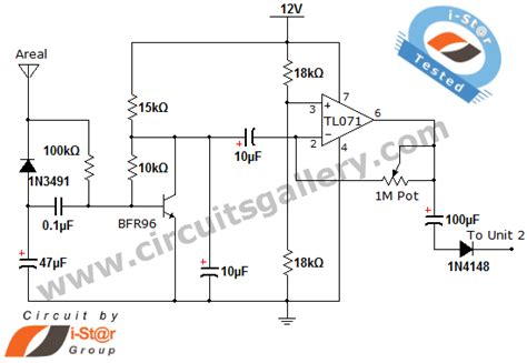 mobile cell phone detector sniffer circuit diagram
