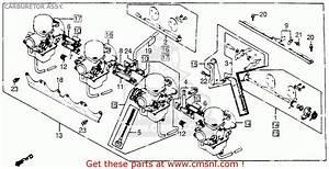 Honda Cb900f 900 Super Sport 1981  B  Usa Carburetor Assy