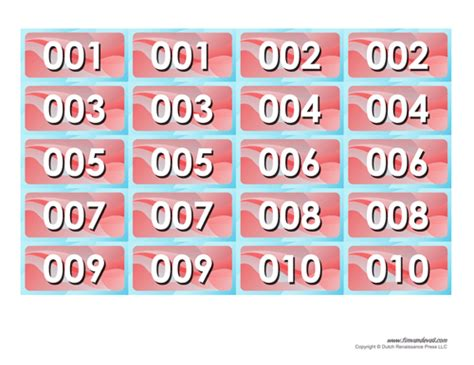 numbered raffle ticket template tim de vall comics printables for