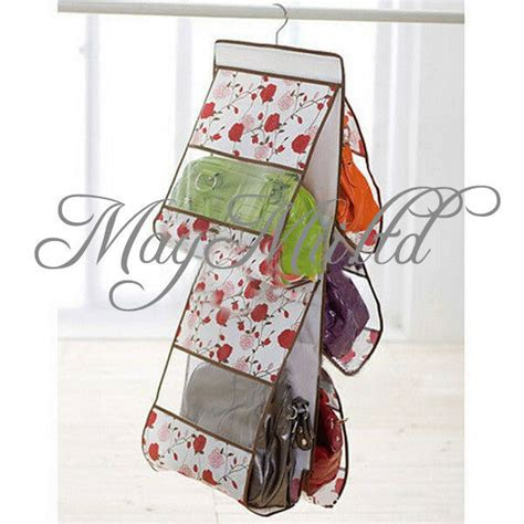 Hanging Purses In Closet by 5 Layer Pockets Hanging Purse Bags Organizer Closet