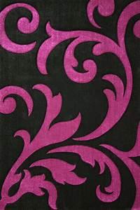 tapis moderne noir et violet paris 160x230 cm With tapis chambre bébé avec collant noir motif fleur