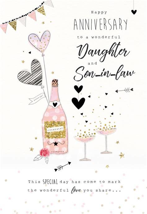 icg daughter son  law wedding anniversary card