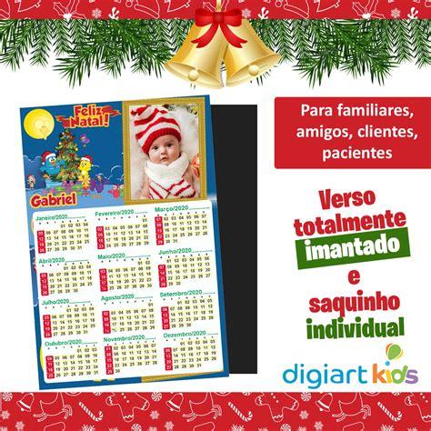 Calendário com Imã Natal da Galinha Pintadinha 10x15cm no