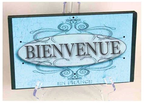 French - Welcome sign - Bienvenue - Wood sign for home ...