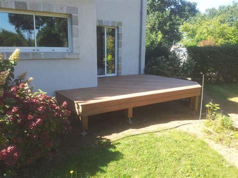 terrasse surelevee en bois terrasse bois sur vis de fondation loire eco bois