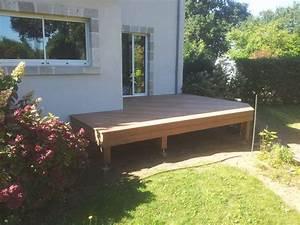 terrasse bois sur vis de fondation loire eco bois With terrasse en bois surelevee