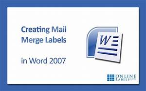 creating mail merge labels in word 2007 onlinelabelscom With create mailing labels online