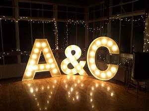 2014 wedding trend lighted letters the yacht club at With big letters for wedding