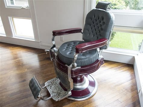 Kochs Barber Chair History by Igavel Auctions Theo A Kochs Company Leather Painted