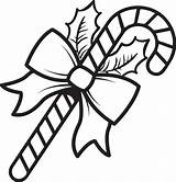 Candy Coloring Christmas Printable Cane Whitesbelfast sketch template