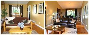 warm and welcoming living room and dining room design With interior decorating nanaimo