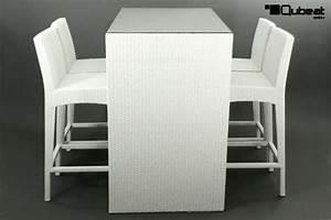 Barhocker Tisch Set : rattan barset mit 4 barhockern und 1 tisch wei rattan barset mit 3 barhockern und 1 tisch ~ Whattoseeinmadrid.com Haus und Dekorationen