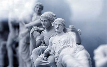 Greek Greece Wallpapers Athens Museum Statues Acropolis