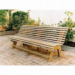 Banquette Bois Exterieur : banc de jardin en bois 2 m ~ Farleysfitness.com Idées de Décoration