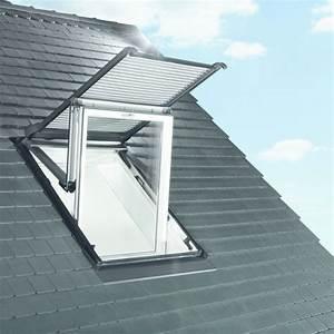Fenetre De Toit Avec Volet Roulant Integre : volet roulant lectrique ou solaire pour fen tre de toit ~ Premium-room.com Idées de Décoration