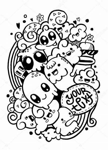 Doodle Monster Happy Doodles Simple Drawing Easy