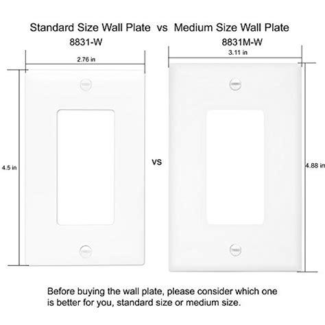 Decorator Light Switch Gfci Rocker Wall Plate Standard