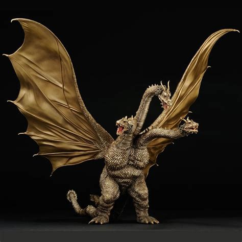 Godzilla, with its immense power from the biochar circulatory system is the king of the ocean at that time. 'TOHO Kaiju' King Ghidorah Vinyl Figure by X-Plus ...
