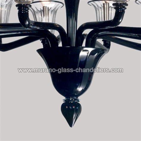 quot coco quot black murano glass chandelier murano glass